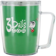 Signature 3Balls.Com 18Oz Coffee Tumbler Home/Office