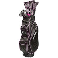Tour Edge Moda Silk Black/Hot Pink Club Set