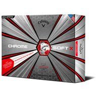 Callaway Chrome Soft X 18 Truvis Red Golf Ball