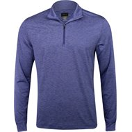 Greg Norman L/S Micro Stripe Heathered ¼ Zip Outerwear