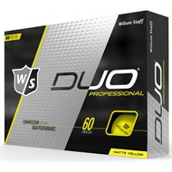 Wilson Staff Duo Pro Matte Yellow Golf Ball
