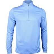 Greg Norman L/S Heathered Herringbone 1/4 Zip Mock Outerwear