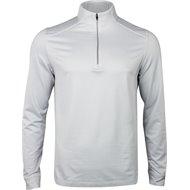 Greg Norman L/S Heathered Herringbone 1/4 Zip Mock Outerwear