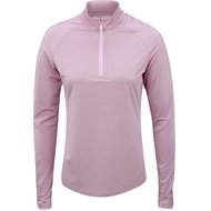 Greg Norman L/S Ruched Lurex 1/4 Zip Mock Polo Shirt