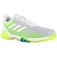 Adidas Code Chaos Spikeless Golf Shoes - White/Signal Green/Glory Blue - Size: 9.5 SpikelessAdidas Code Chaos Spikeless