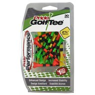 """Pride Evolution Striped 2 ¾"""" 30 Count Golf Tees"""