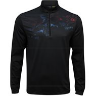 Greg Norman Abstract Printed ¼ Zip Mock Outerwear
