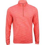 Greg Norman Heathered Mesh ¼ Zip Mock Outerwear