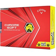 Callaway Chrome Soft Truvis Play Yellow Golf Ball