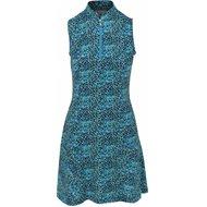 Greg Norman Tropicana Sleeveless Zip Flare Dress