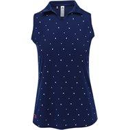Adidas Youth Girls Dot Print Sleeveless Shirt
